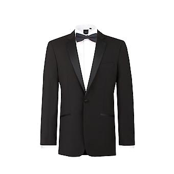 Dobell Boys Black Tuxedo Dinner Jacket Regular Fit Notch Lapel