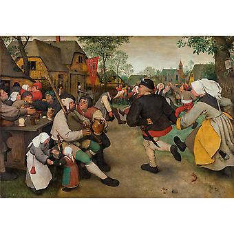 Peasant dance, Pieter Bruegel the Elder, 60x42cm