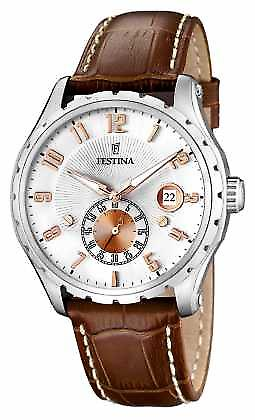 In acciaio inox a Festina Mens Brown Leather Watch Strap F16486/3