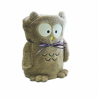 Kids Plush Fleece Cuddle Blanket: Brown Owl
