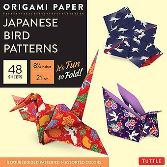 Origami Paper  -Japanese Bird Patterns - Perfect for Small Projects or