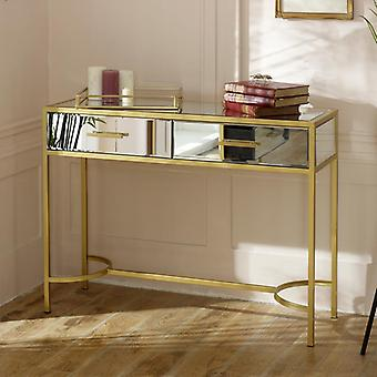 Gold Mirrored Console Hall Table - Venus Range