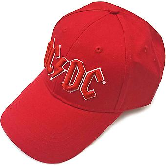 AC/DC Baseball Cap classic Red Band Logo new Official Strapback