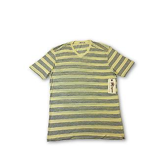 Agave Lux 'Pinos' T-shirt in yellow with blue stripes
