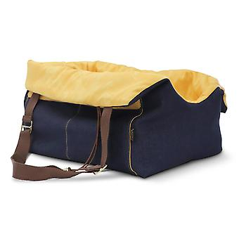 Oh! Denim Pet Carrier with Yellow Lining