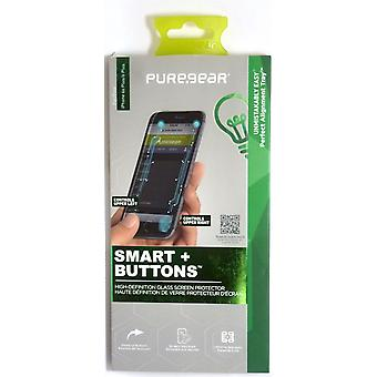 PureGear Smart+Buttons Glass Screen Protector for iPhone 6 Plus/6s Plus