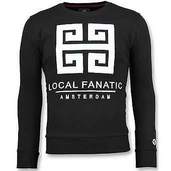 Greek Border-Cute Sweater men-6350Z-Black