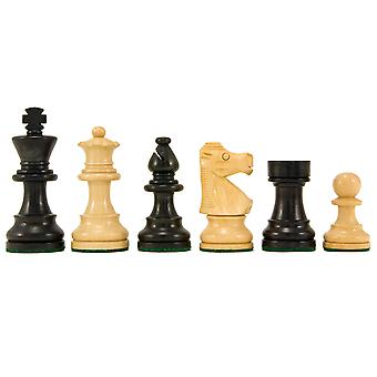 French Knight Series Ebonised Staunton Chess Pieces 3.25 Inches