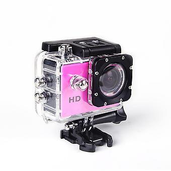 Actie onderwatercamera Ultra HD waterdichte sport camera groothoekcamera kit roze