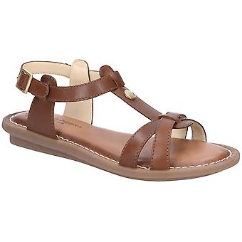 Hush Puppies Womens Olive Tstrap Buckle Strap Sandal