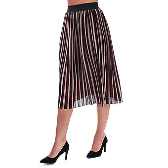 Womens Only Sway Stripe Skirt In Nomad / Tawny Port