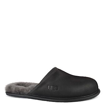 Ugg Mens' Scuff Black Leather Slipper