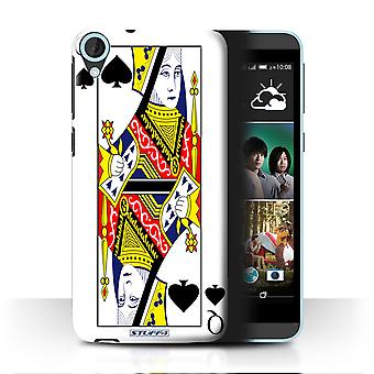 STUFF4 Case/Cover for HTC Desire 820q Dual/Queen of Spades/Playing Cards