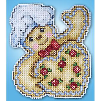 Gingerbread Ornament Plastic Canvas Kit 14 Count Dw557