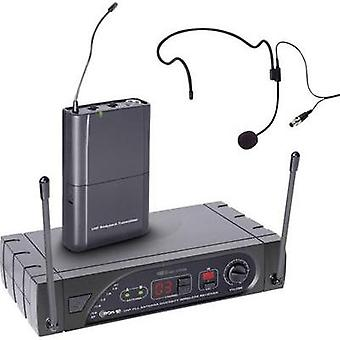 Headset Wireless microphone set LD Systems D1015CM Transfer type:Radio incl. cable
