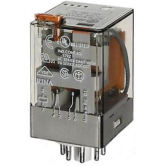 Plug-in relay 24 Vac 10 A 2 change-overs Finder 60