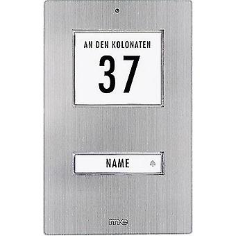 Bell button backlit, with address field, with nameplate 1x m-e modern-electronics KT 1-EG Stainless steel 12 V/1 A