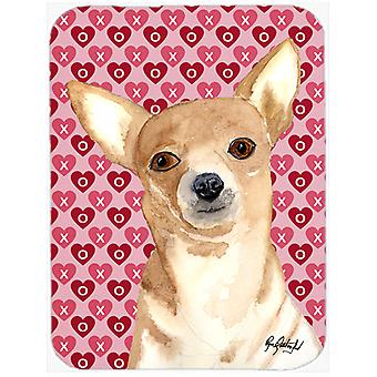 Chihuahua Love and Hearts Mouse Pad, Hot Pad or Trivet