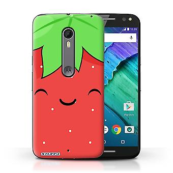 STUFF4 Case/Cover for Motorola Moto X Style/Strawberry/Kawaii Food