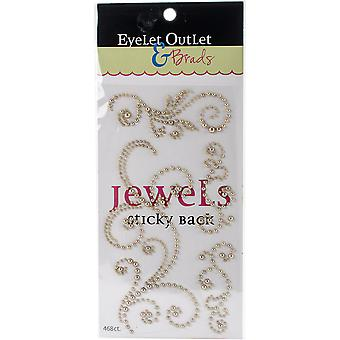 Bling Self-Adhesive Pearl Swirls 468/Pkg-Gold EOBSP-146