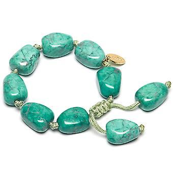 Lola Rose Alfie Bracelet Emerald Green Magnesite Stone