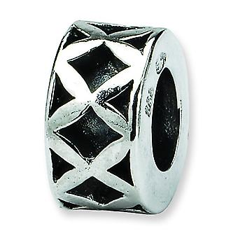 Argent sterling réflexions SimStars X Spacer Bead Charm