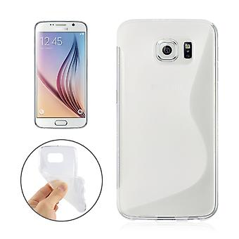 Mobiele case TPU case voor mobiele Samsung Galaxy S6 SM G920 transparant