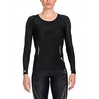 SKINS A400 Women's Top Long Sleeve black/gold B33156005