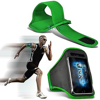 ONX3 Sony Xperia X (2017) Case (Green) Case Cover Adjustable Fitness Running Jogging Cycling Gym Armband Holder