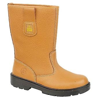 Amblers Steel FS125 Womens Safety Riggers Boots Textile Nubuck Dual Density