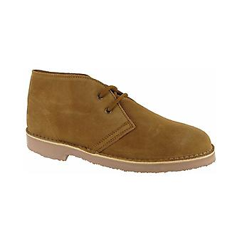Cotswold Sahara Unisex Desert Boots Suede Lace Up Fastening Supported Heel Shoes