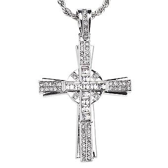 ICED OUT LA crew bling cross silver