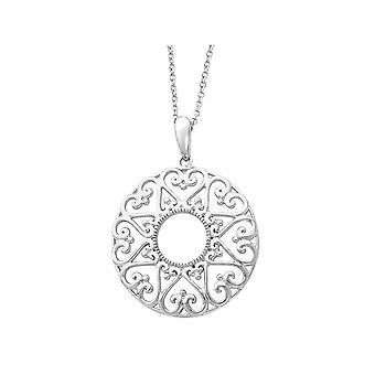 Family Heart Strings Pendant Necklace in Sterling Silver with Chain