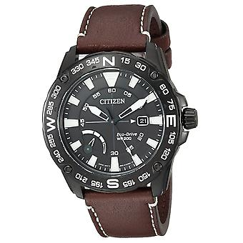 Citizen Eco-Drive in pelle Mens Watch AW7045-09E