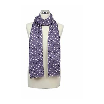 Peony Scarf - Sheep - Grape