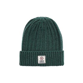 Franklin & Marshall Ua904 Virginia Green Beanie cappello a coste