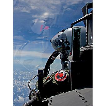 An F-15 Eagle pilot flies in formation with his wingman Poster Print by HIGH-G ProductionsStocktrek Images