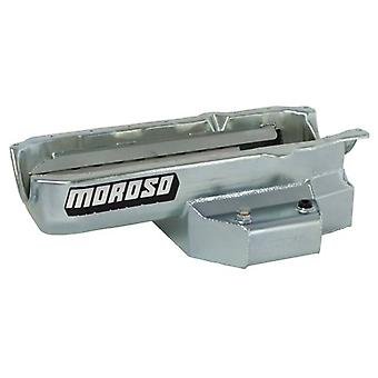 Moroso 21315 Oval Track Wet Sump Steel Oil Pan for Chevy Small-Block Engines