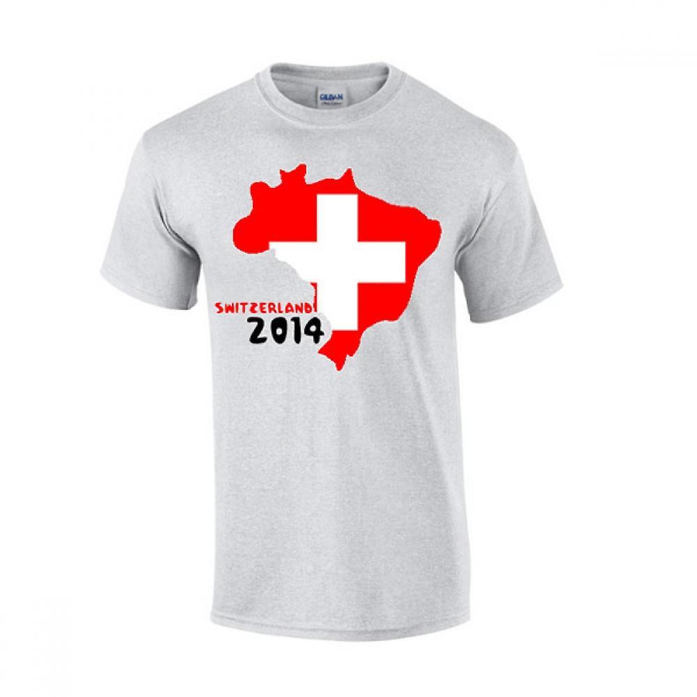 Svizzera 2014 Country Flag t-shirt (grigio)