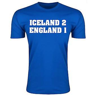 Island 2 England 1 T-Shirt (blau)