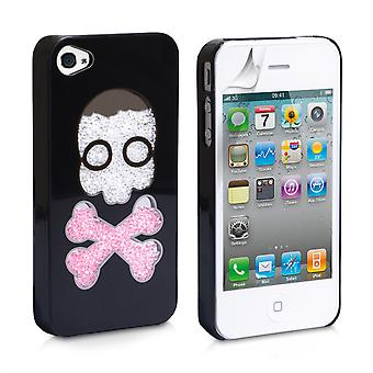 Yousave Accessories Iphone 4 And 4s Skull Hard Case - Black
