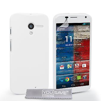 Yousave Zubehör Motorola Moto X harte Hybrid Case - weiß