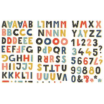 Family & Co. Chipboard Alpha Stickers-Letters Approximately 1.25