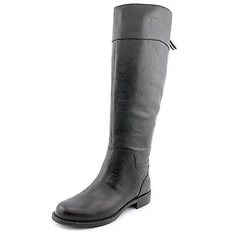 Nine West Womens Counter Leather Almond Toe Knee High Fashion Boots