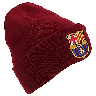 FC Barcelona Official Knitted Winter Football Crest Beanie Hat