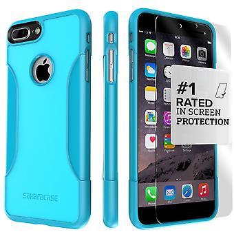 SaharaCase iPhone 8 Plus & 7 Plus Oasis turquesa caso, clásico paquete de Kit de protección con vidrio templado de ZeroDamage