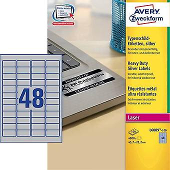 Avery-Zweckform L6009-100 Labels (A4) 45.7 x 21.2 mm Polyester f