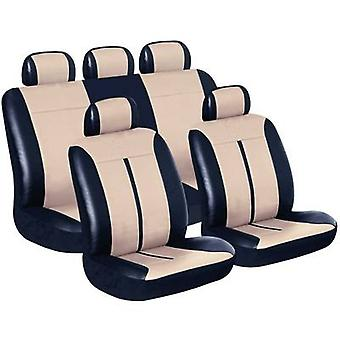 Eufab 28289 Buffalo Car Seat Cover Set Black, Beige