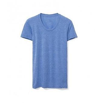 American Apparel Womens/Ladies Tri-Blend Track T-Shirt