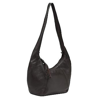 Burgmeister ladies shoulder bag T220-215A leather dark brown